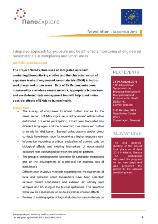 NanoExplore September Newsletter